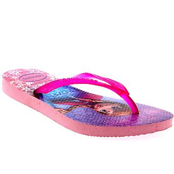 Kids Girls Havianas Frozen Elsa Anna Beach Disney Summer Flip Flop Sandal