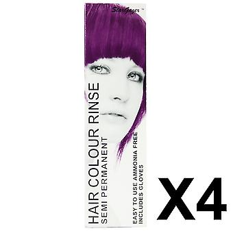 Semi Permanent Hair Dye by Stargazer - Soft Cerise x 4  Packs