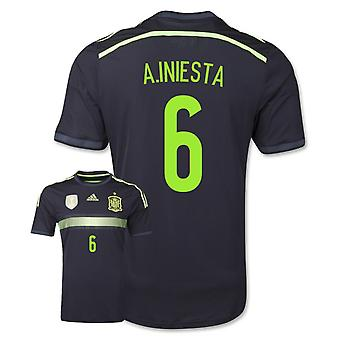 2014-15 Spanje weg World Cup Shirt (A.Iniesta 6) - Kids