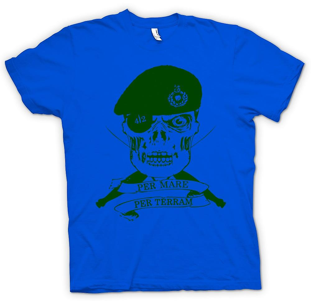 Mens t-shirt-Royal Marines 42 Cdo Motto