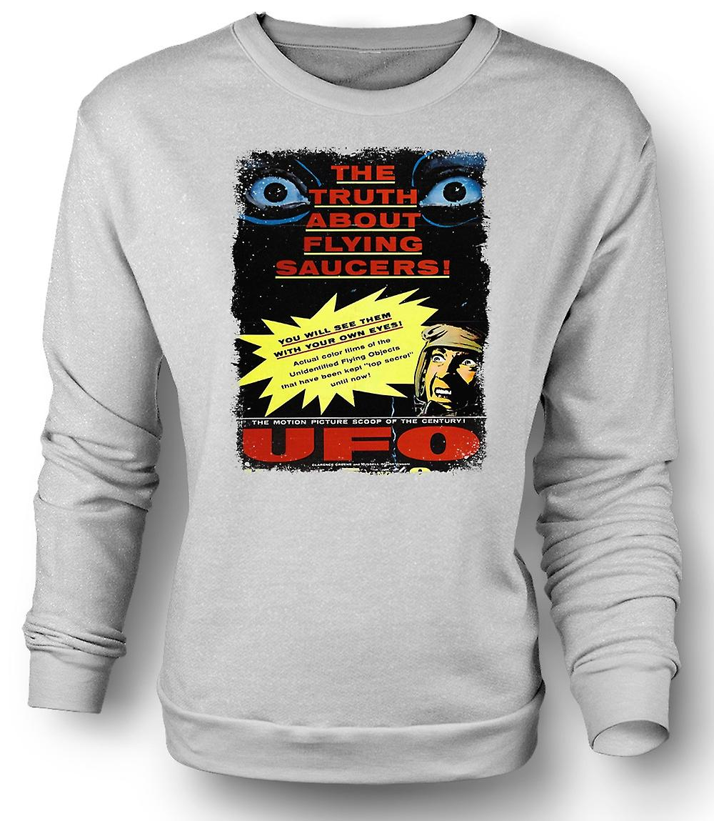 Mens Sweatshirt Truth About Flying Saucers Kids