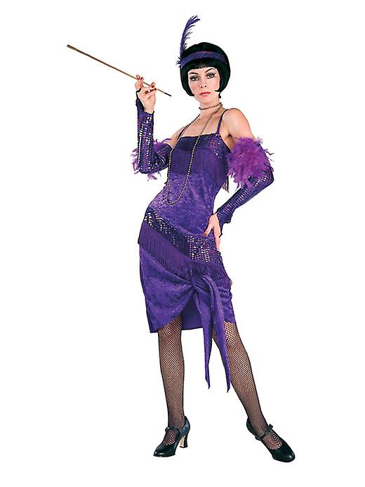 Fabulous Flapper Wearing Purple Dress - Lifesize Cardboard Cutout / Standee