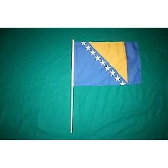 Bosnien & Hercegovina Hand Held Flag