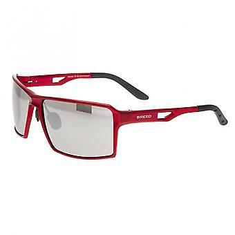 Breed Centaurus Aluminium Polarized Sunglasses - Red/Silver