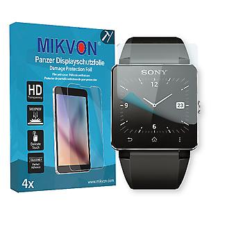Sony SmartWatch 2 Screen Protector - Mikvon Armor Screen Protector (Retail Package with accessories)