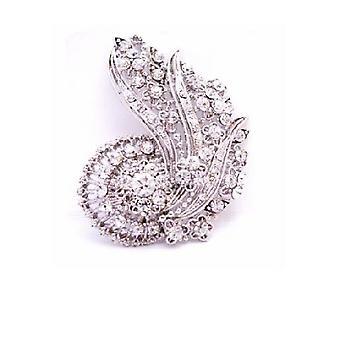 Artistically Made Vintage Brooch & Can Be Pendant Also Fully Embedded w/ Cz