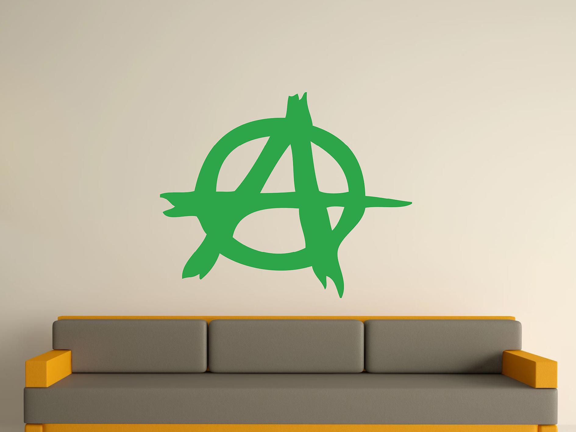 Anarchy symbool Wall Art Sticker - groen