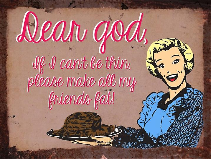 Vintage Metal Wall Sign - Dear god