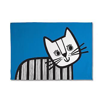 Jane Foster Kitten Tea Towel, Blue