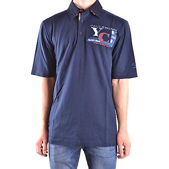 Paul & Shark Blue Cotton Polo Shirt