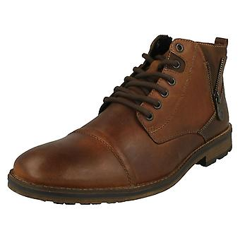 Mens Rieker Lace Up Detailed Ankle Boots F5512