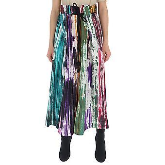 Issey Miyake Multicolor Cotton Skirt