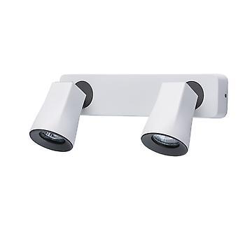 Glasberg - White And Dark Grey Double Adjustable Spotlight On Bar 545021102