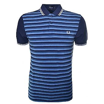 Fred Perry Men's Stripe Polo Shirt Slim Fit Short Sleeved M8359-781