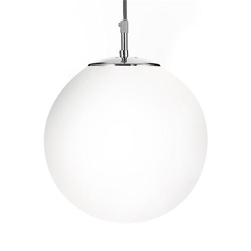 Searchlight 6077 Atom Shiny Opal Ball Satin Silver Suspension Adjustable