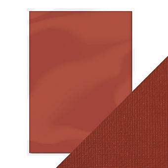 Craft Perfect de Tonic Studios A4 Weave Textured Card 10pk Maroon Red