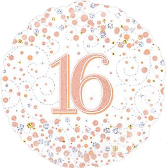 Oaktree Sparkling 16 Fizz Birthday Round Foil Balloon