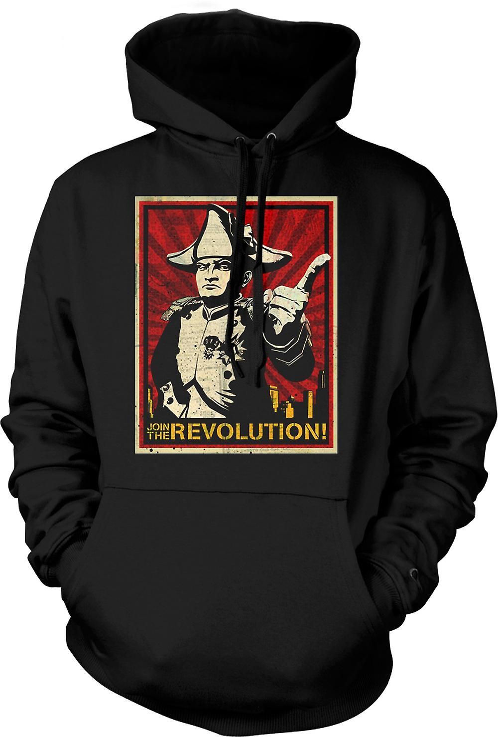 Mens Hoodie - Napoleon - Join The Revolution