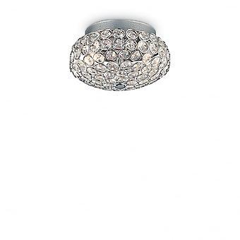 Ideal Lux King 3 Bulb Surface Spotlight Chrome