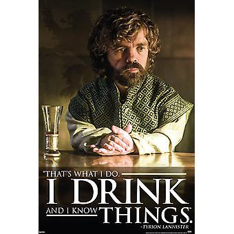 Poster - Studio B - Game of Thrones - I Drink 36x24