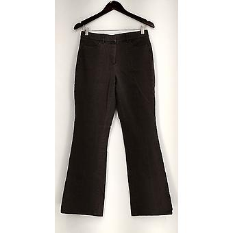 Isaac Mizrahi Live! Pants 24/7 Stretch Boot Cut Front Zippered Gray A279252