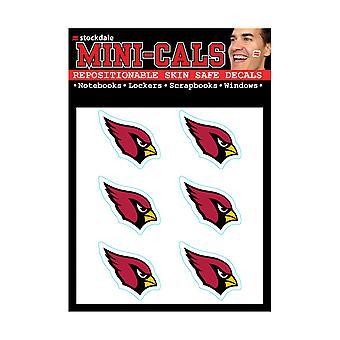 Wincraft 6er Gesicht Aufkleber 3cm - NFL Arizona Cardinals
