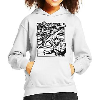 Flash Gordon Space Suit Rocket Montage Kid's Hooded Sweatshirt
