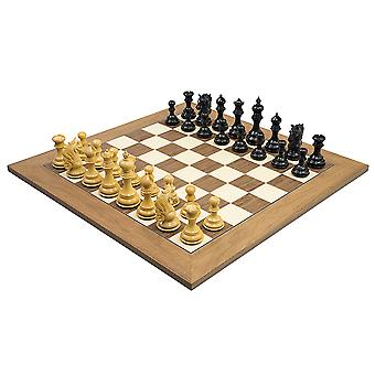 The Cavalry Ebony & Walnut Luxury Chess Set