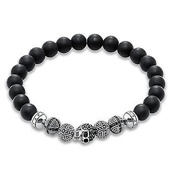 Thomas Sabo mannen armband Rebel op hart zilver 925 zwart zircons 8 -8 cm
