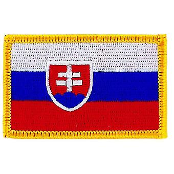 Patch Ecusson Brode Flag Slovakia Slovak Thermocollant Insigne Blason