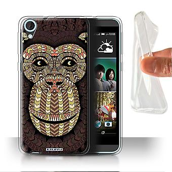 STUFF4 Gel/TPU sak/Cover for HTC Desire 820s to/Monkey-Sepia/Aztec dyr