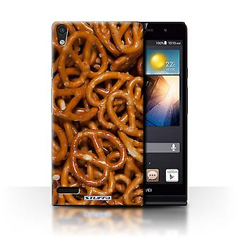 STUFF4 Case/Cover for Huawei Ascend P6 3G/Pretzels/Snacks