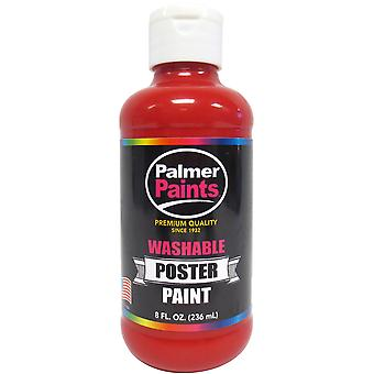 Washable Poster Paint 8oz-Red WP8OZ-616