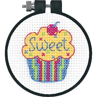 Learn A Craft Cupcakes Counted Cross Stitch Kit 3