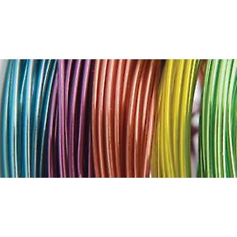 Plastic Coated Fun Wire Value Pack 9 Foot Coils 22 Gauge Translucent 5 Pkg Vp84 84491