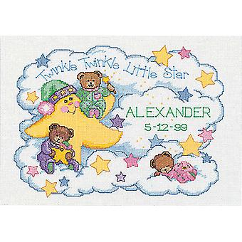 Twinkle Twinkle Birth Record Counted Cross Stitch Kit 14