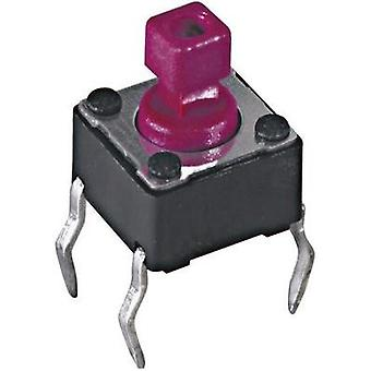 Pushbutton, Printed switches 12 Vdc 0.05 A 1 x Off/(On) Diptronics DTS-644N-V momentary 1 pc(s)