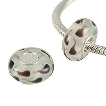 Sterling silver murano glass charm