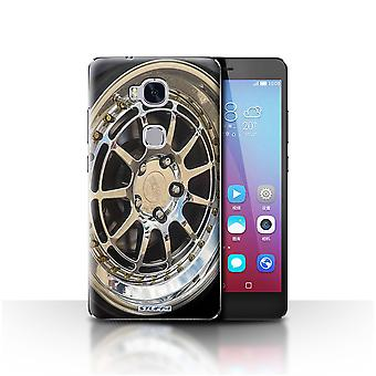 STUFF4 Case/Cover for Huawei Honor 5X/GR5/Chrome/Silver/Alloy Wheels