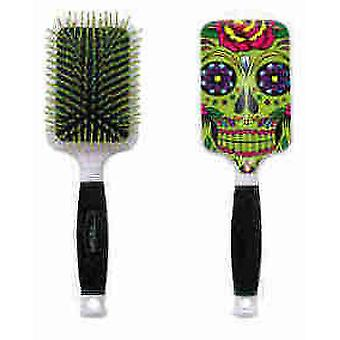Bifull Green Skull brush Racket
