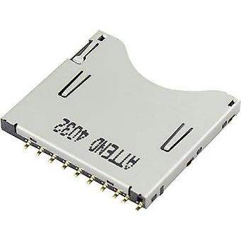SD Card connector Push, Push Attend 1 pc(s)