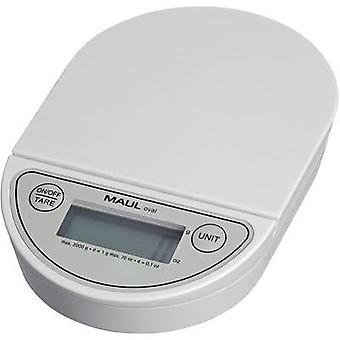 Letter scales Maul MAULoval Weight range 2 kg Readability 1 g battery-powered White