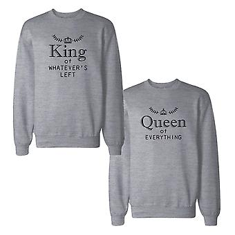 King And Queen Couple Sweatshirts Funny Matching Sweat Shirts
