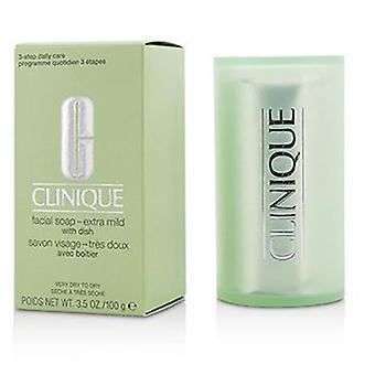 Clinique Facial Soap - Extra Mild (With Dish) - 100g/3.5oz