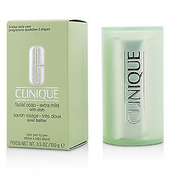 Clinique Facial Soap - Extra Mild (With Dish) - 100g/3.5oz