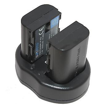 Dot.Foto Canon LP-E6 Replacement Battery (2-pack) + Dual USB Charger for Canon EOS 5D Mark II, 5D Mark III, 5DS, 5DS R, 6D, 7D, 7D Mark II, 60D, 60Da, 70D