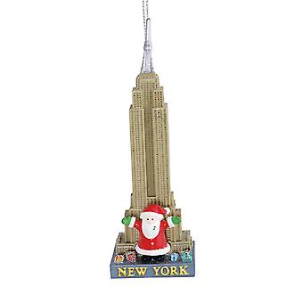Santa at New York Empire State Building Christmas Holiday Ornament Cape Shore