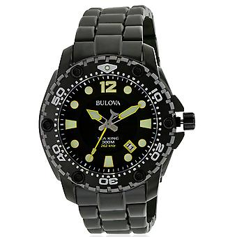 Bulova Sea King Black Stainless Steel Mens Watch 98B242