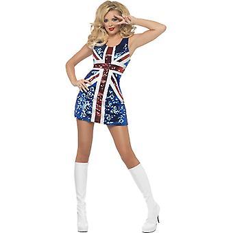 Лихорадка коллекции все, что блестит правило Britannia костюм включает одежда с блестками Юнион Джек