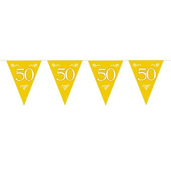Pennant 50 years gold 6 m wedding decoration gold time